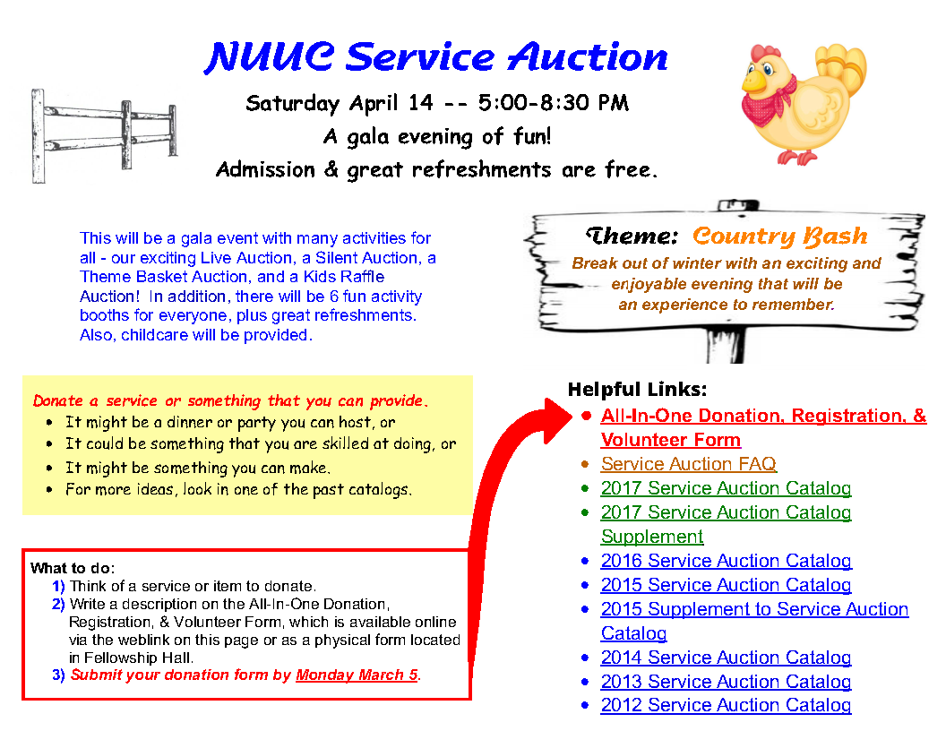 Service Auction - NUUC